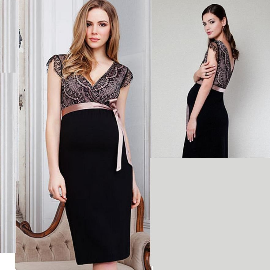 Elegant Lace Maternity Formal Dress 5094