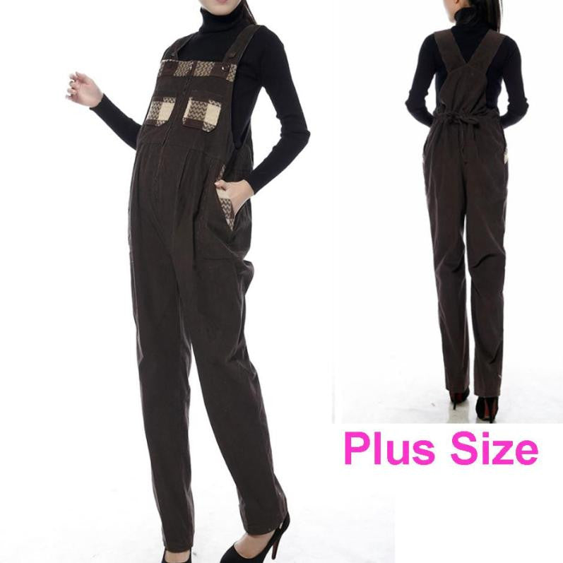 Winter Plus Size Maternity Overalls 5090
