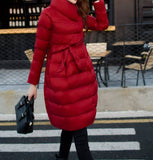 90% Down Flare Dress Red Coat for pregnancy and after