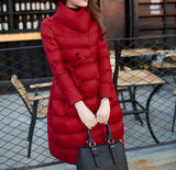 Down maternity down coat red flare dress style