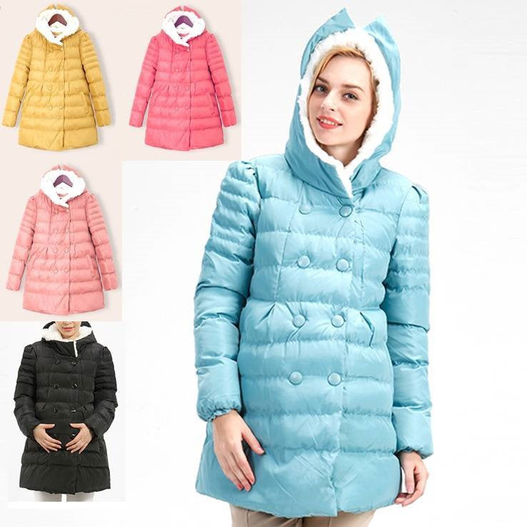 Maternity Fleece Hoodie Puff Coat 5033 - 365boxingdays - 1