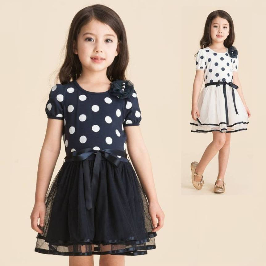 Girls' Polka Dots Dress 2-9T 1012