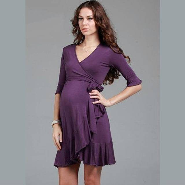 Front Tie Maternity /Nursing Dress 5097
