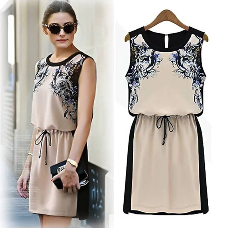 Grace Summer Chiffon Tank Dress 2022