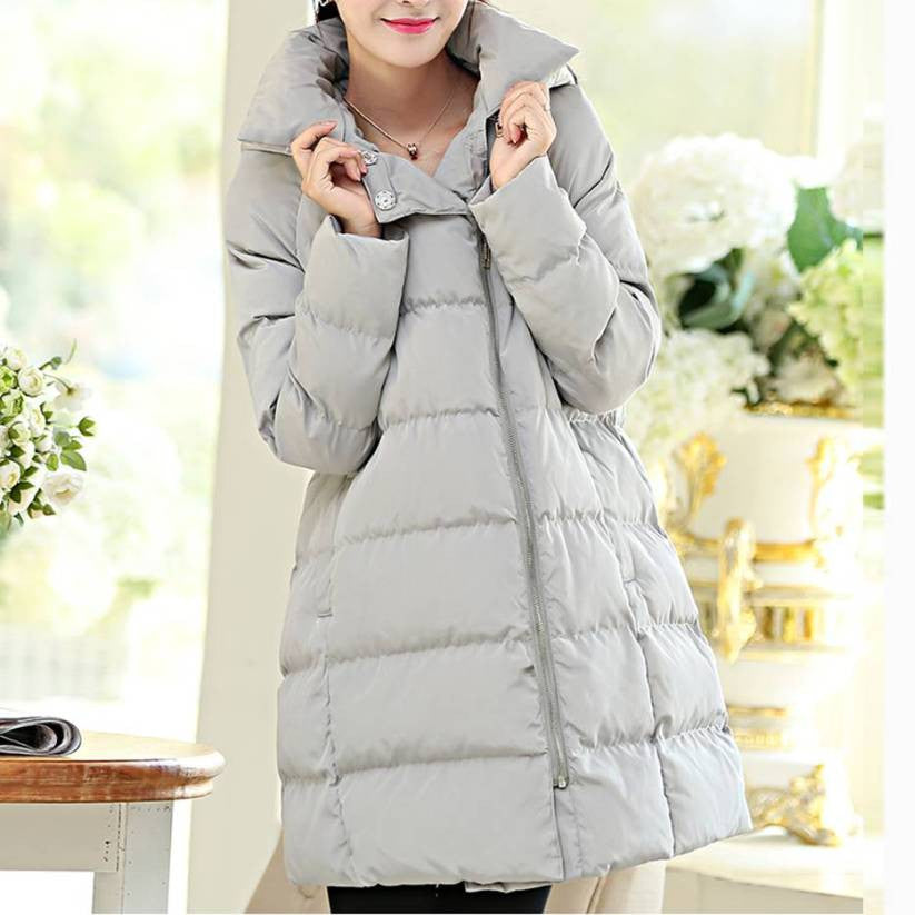 Maternity Winter Puff Hooded Coat Size M~3XL
