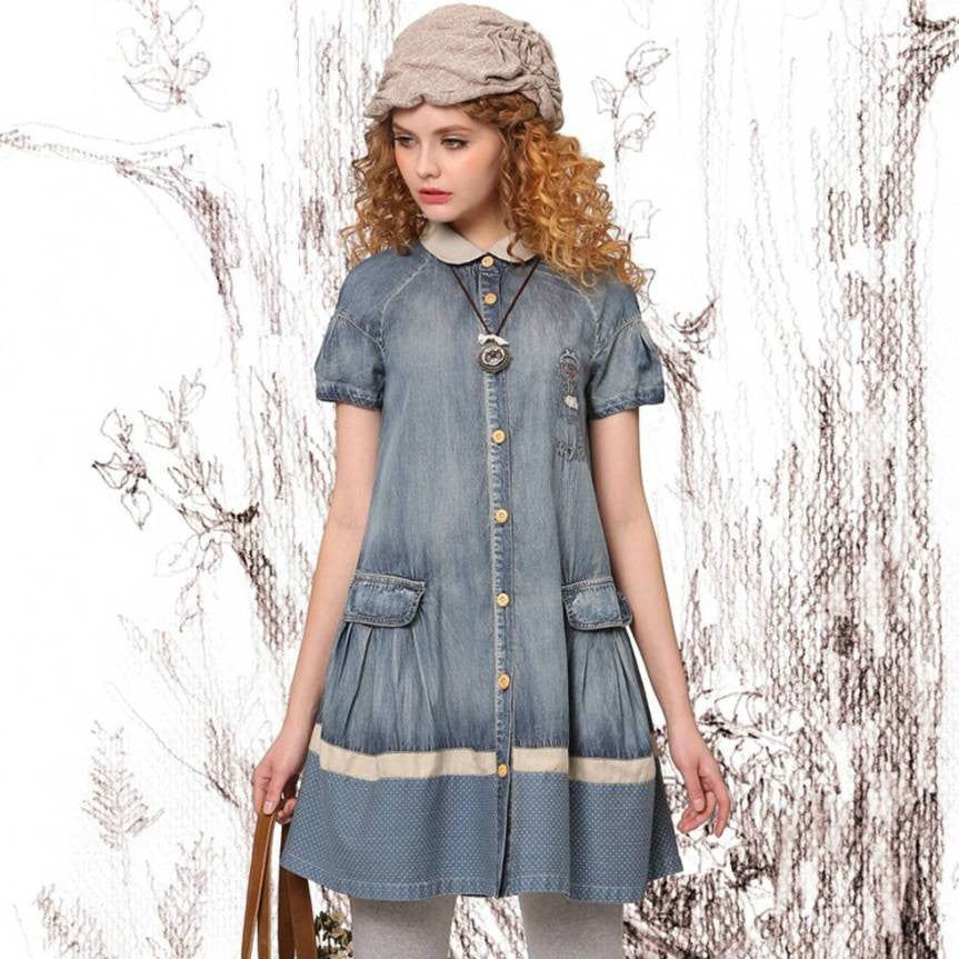 Summer Alice Denim Dress 9-14Y 1024B