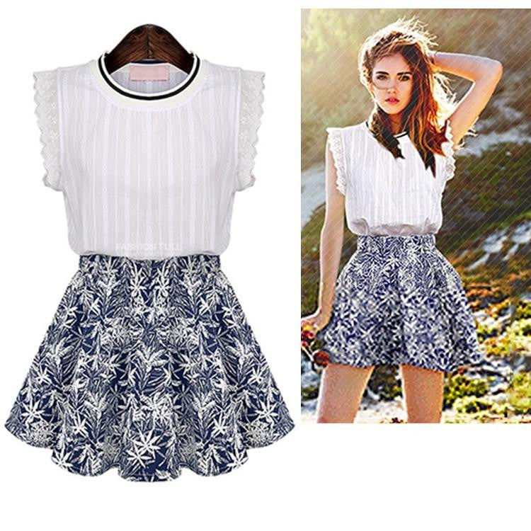 Lolita Sleeveless Top + Short Skirt 1031