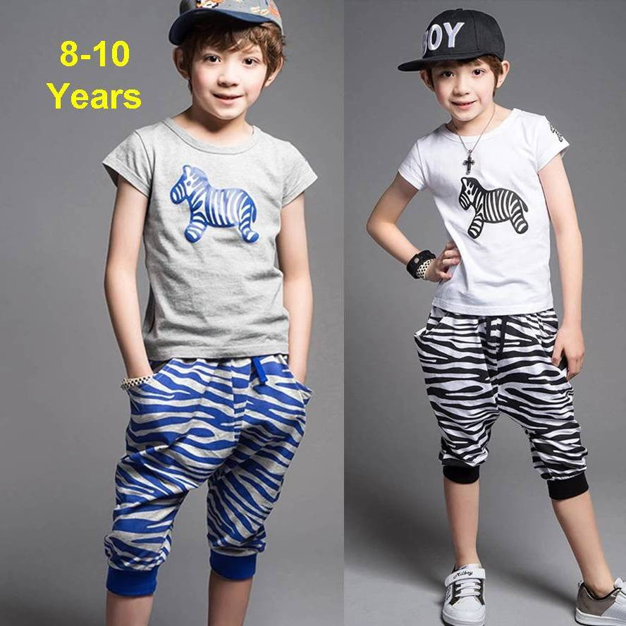 Summer Sport Shorts Set 3-8 Years 7008