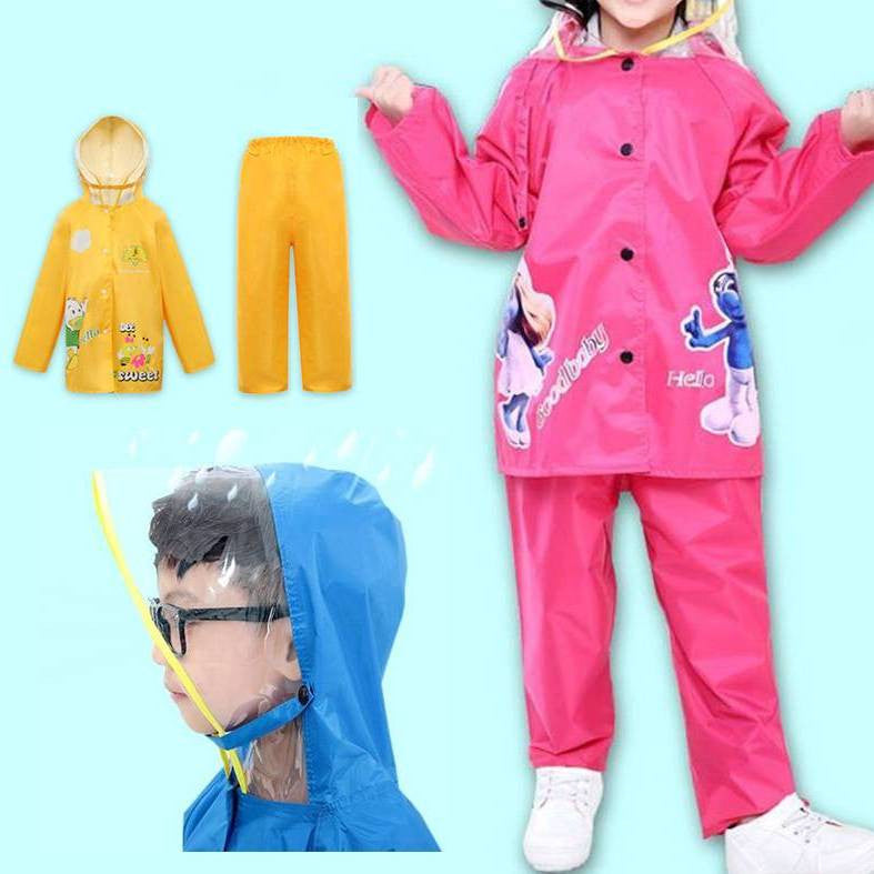 Boys and Girls Rain Coat and Pants Full Cover 7016