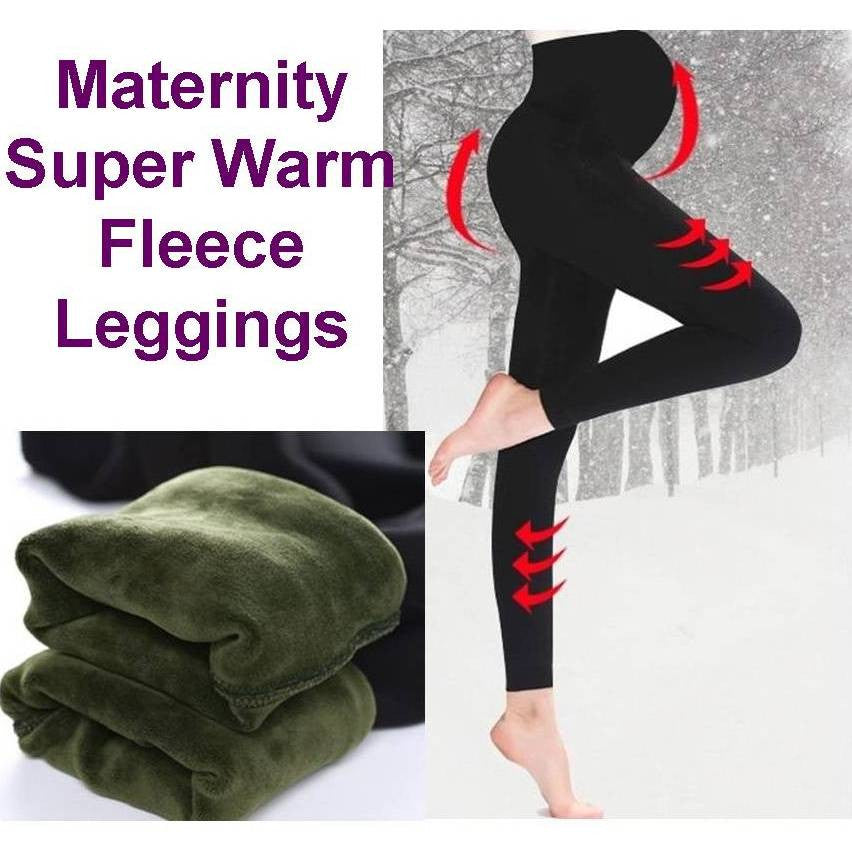 Maternity Winter Thick Fleece Leggings 5082 - 365boxingdays - 1