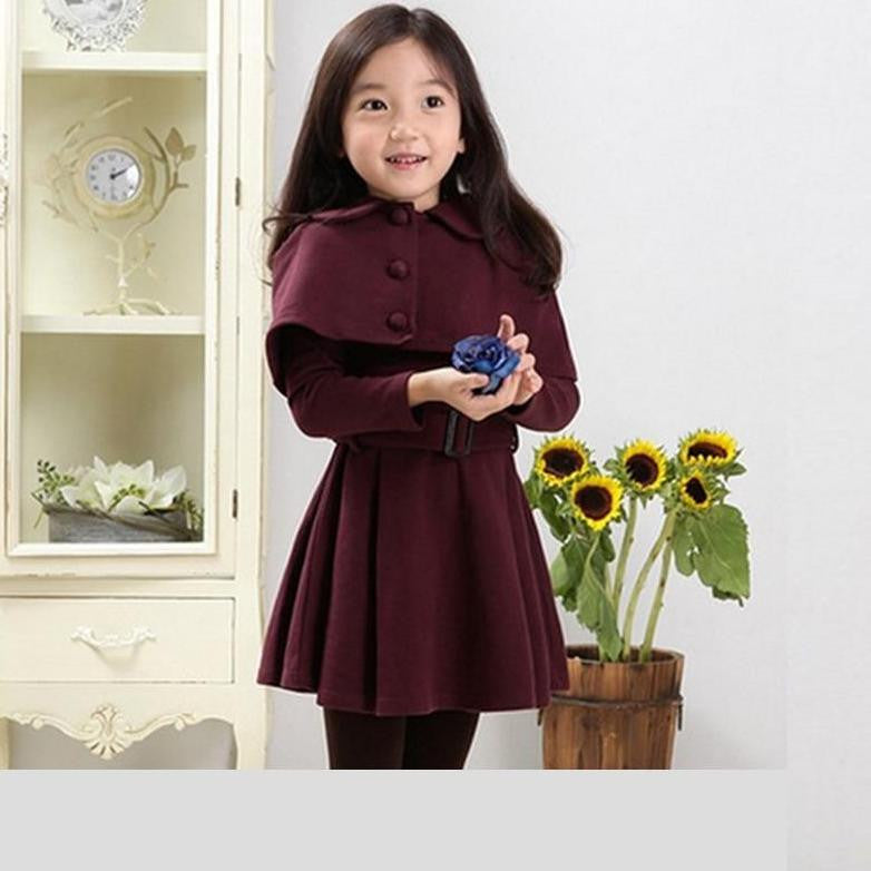 Cotton Cape Trench Coat 4-11T 1008