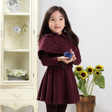Polyester Cape Trench Coat 5-12T 1009 - 365boxingdays - 4