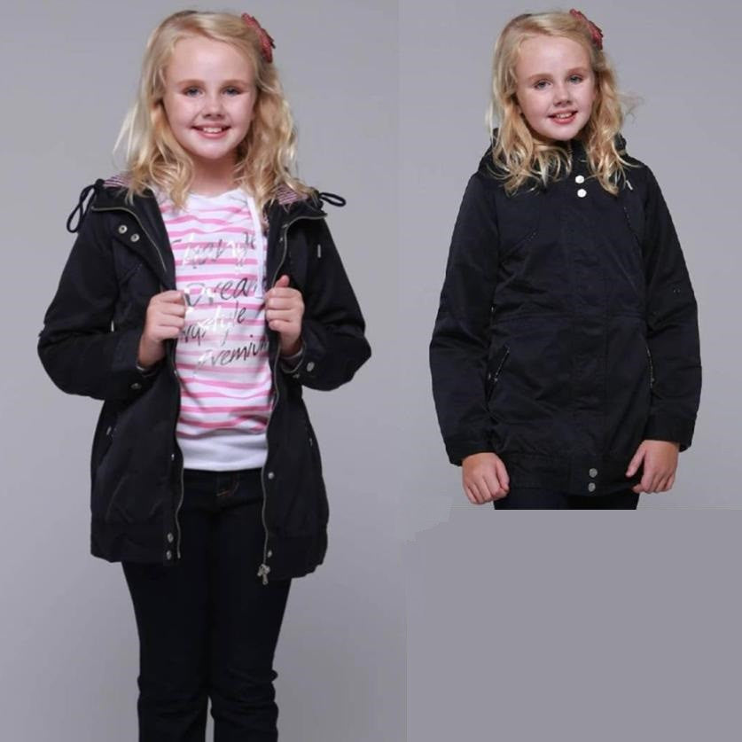 Girls' Black Blue Jacket 7-8 1022