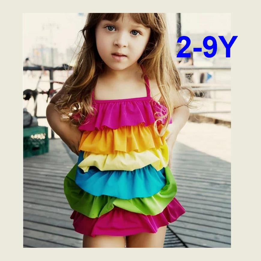 Cupcake Rainbow Swim Suit 2-8T 1025