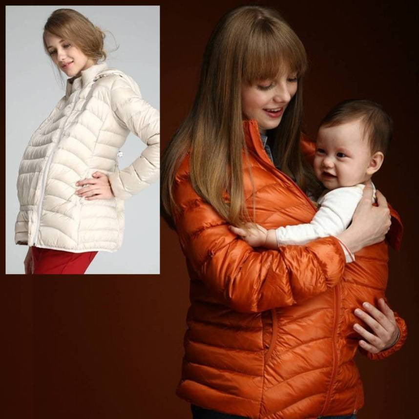 Maternity Babywearing Mom Down Coat 5140 - 365boxingdays - 1