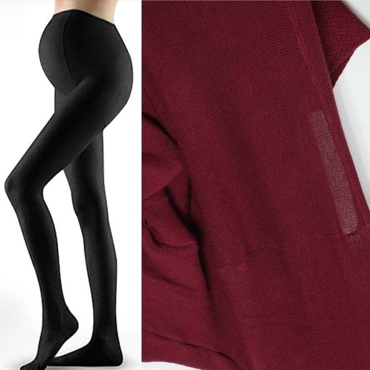 Maternity Cotton Knit Thick Tights 5143