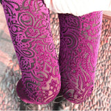 Maternity Velvet Sexy Barbie Pink Leggings Lace - 365boxingdays - 2