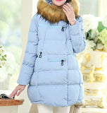Maternity Winter Puff Coat Faux Fur Collar 5055 - 365boxingdays - 4