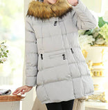 Maternity Winter Puff Coat Faux Fur Collar 5055 - 365boxingdays - 8