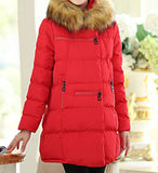 Maternity Winter Puff Coat Faux Fur Collar 5055 - 365boxingdays - 9