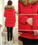 Maternity Winter Puff Coat Faux Fur Collar 5055 - 365boxingdays - 5