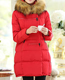 Maternity Winter Puff Coat Faux Fur Collar 5055 - 365boxingdays - 7