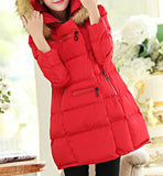 Maternity Winter Puff Coat Faux Fur Collar 5055 - 365boxingdays - 3