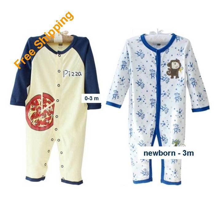 2 Infant Boy Sleepers 0-3m 9024-2p - 365boxingdays - 1