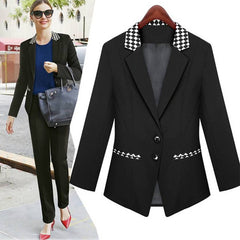 Ladies' Black Business Jacket S~3XL 2042 - 365boxingdays - 1