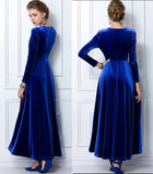 Pleuche Floor-length Dress 8004 - 365boxingdays