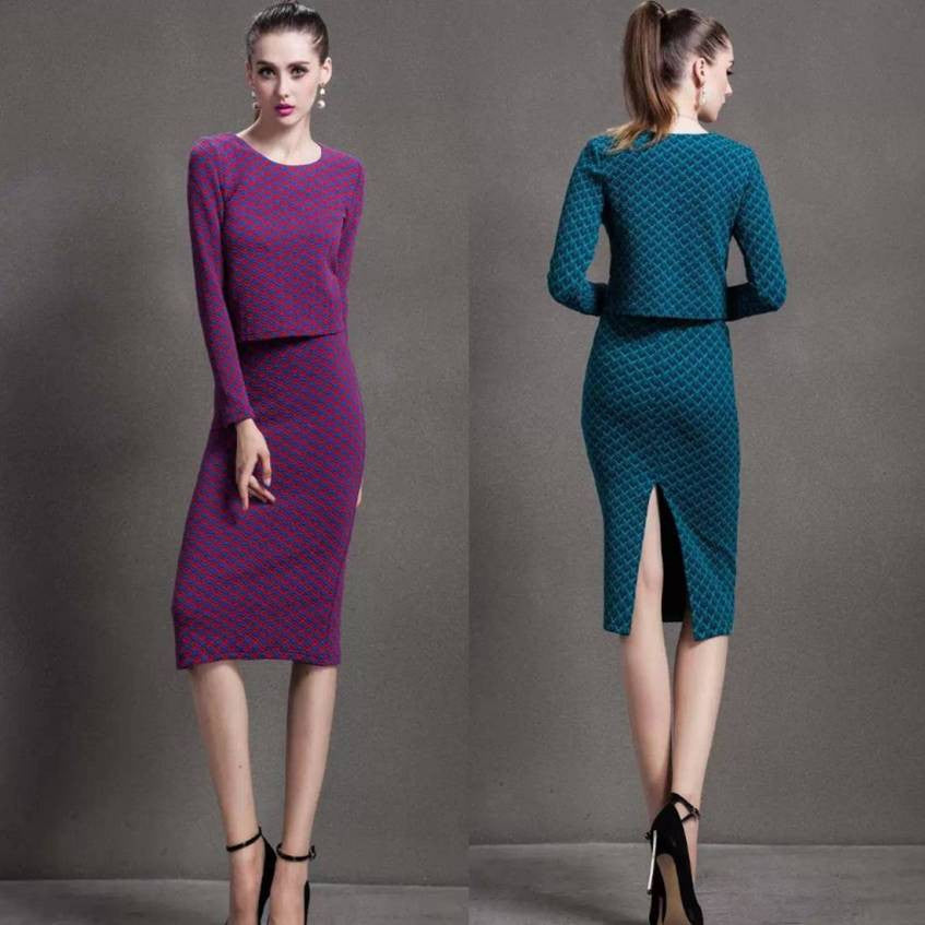 Super Skinny Working Dress Suit 2050