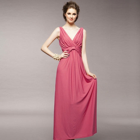 Women's Wrap Long Tank Dress 8005 - 365boxingdays - 1