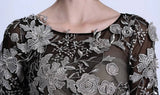 Queen's Silver Solid Flower Dress 8006 - 365boxingdays