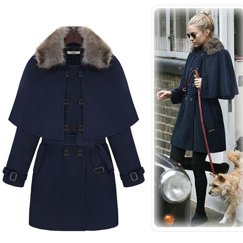 Women's Trench Cloak Coat 2017