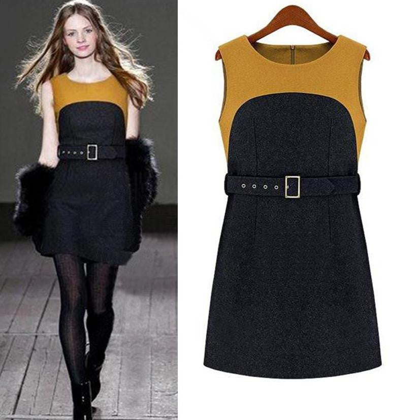 Women's Wool-Blend Tank Dress 2018