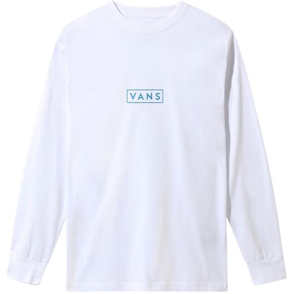 Vans Easy Box Long Sleeve T-Shirt - White/Turkish Tile