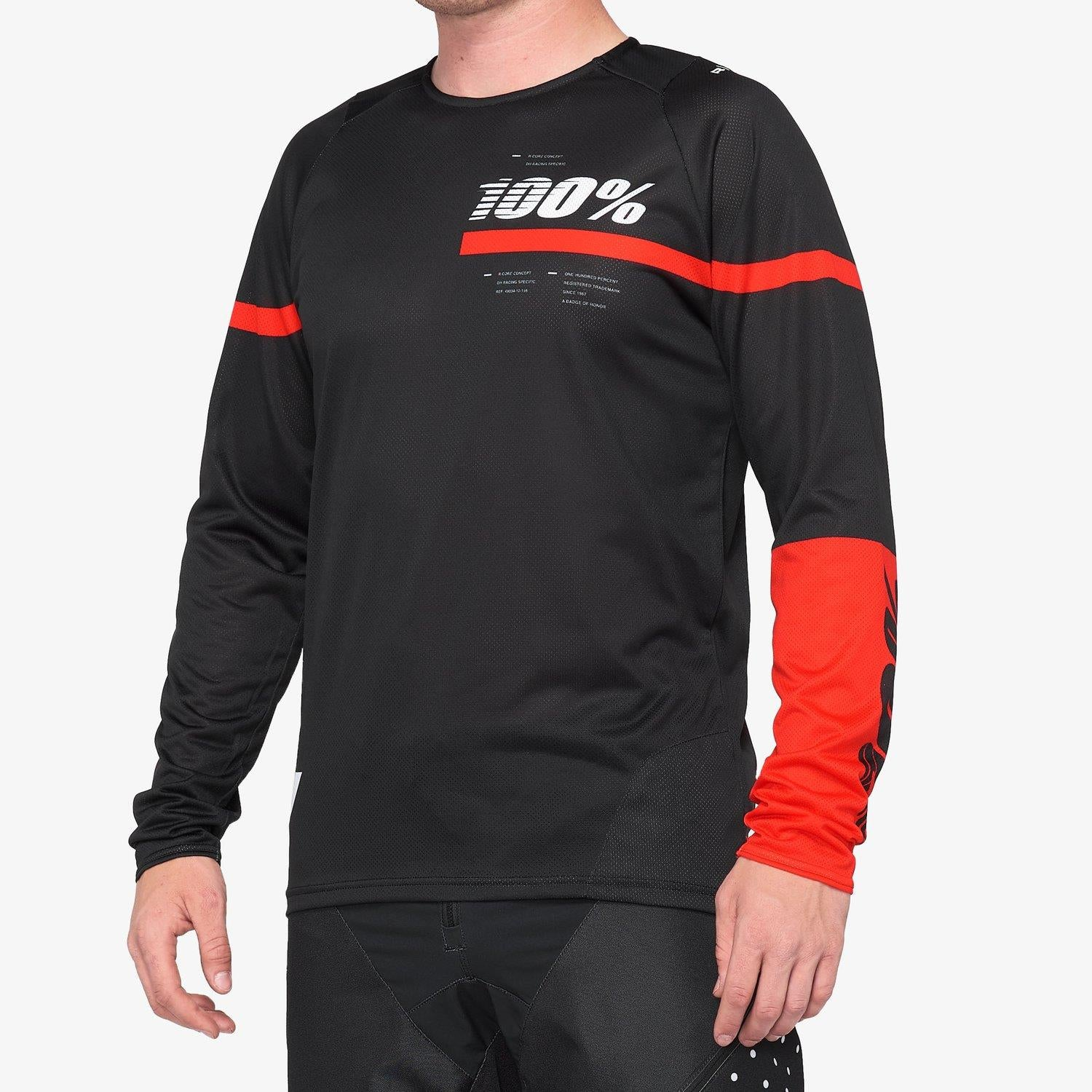 100% R-Core Race Jersey - Black/Red