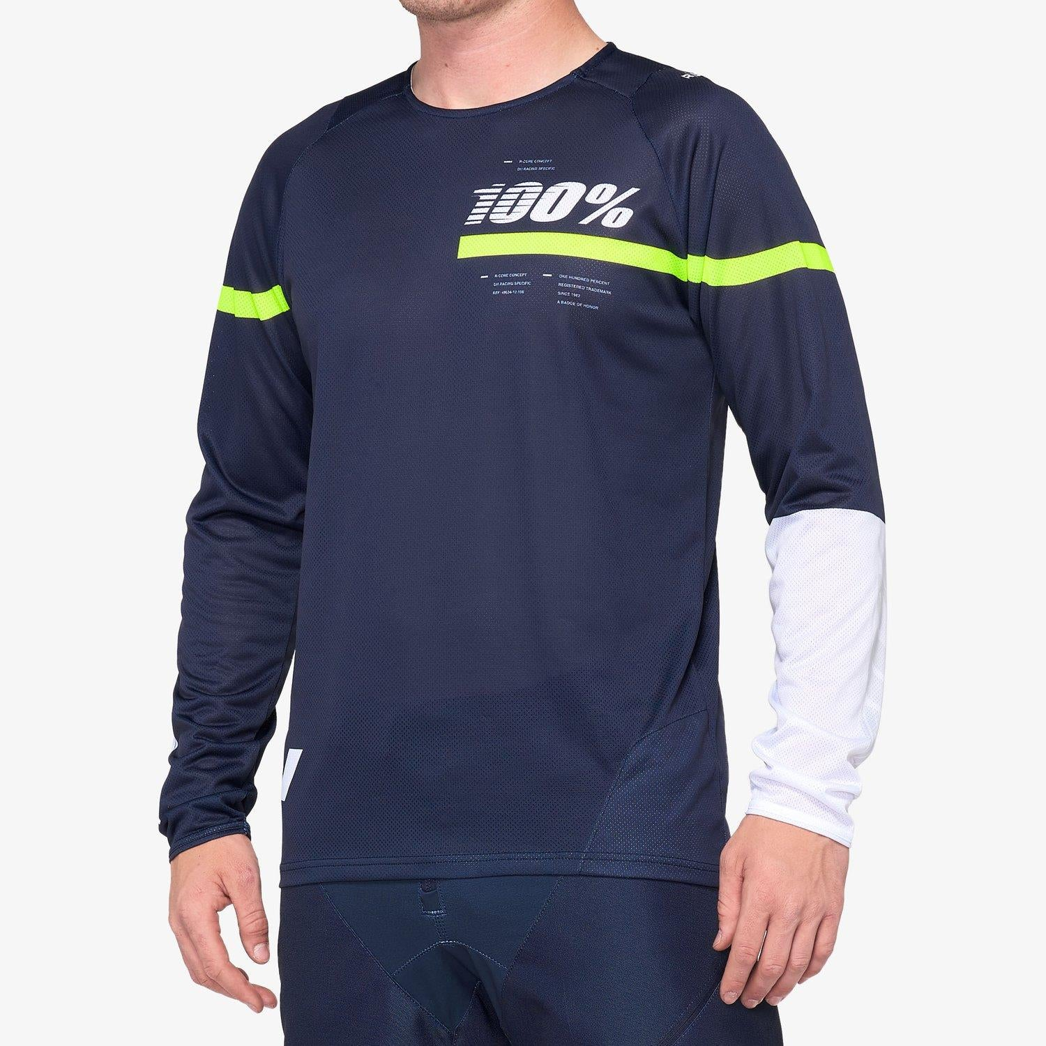 100% R-Core Race Youth Jersey - Dark Blue/Yellow