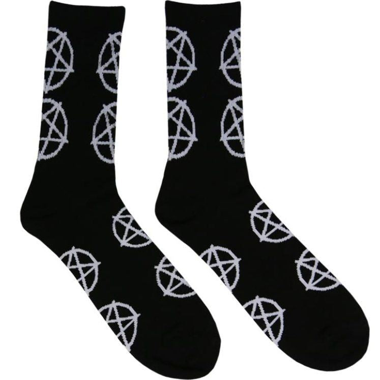Cult Pentagram Socks Black
