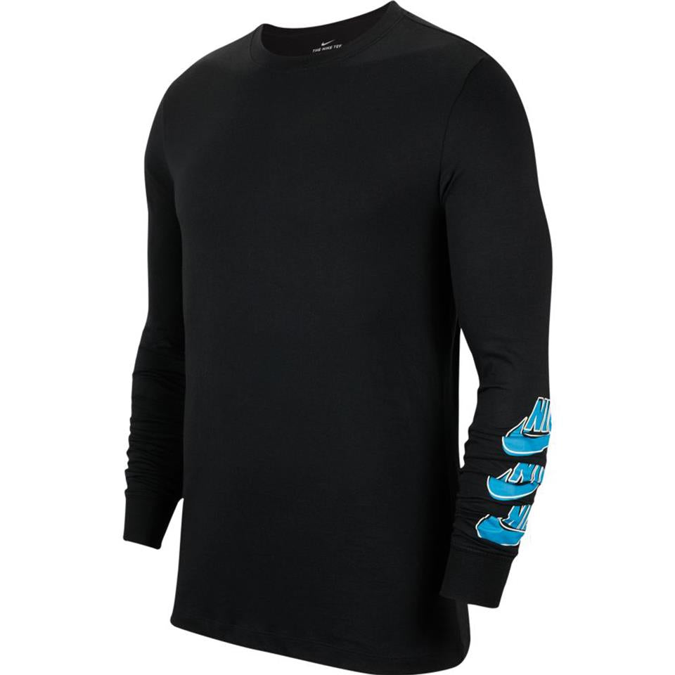Nike SB Men's Long-Sleeve Skate T-Shirt - Black/Blue Stardust