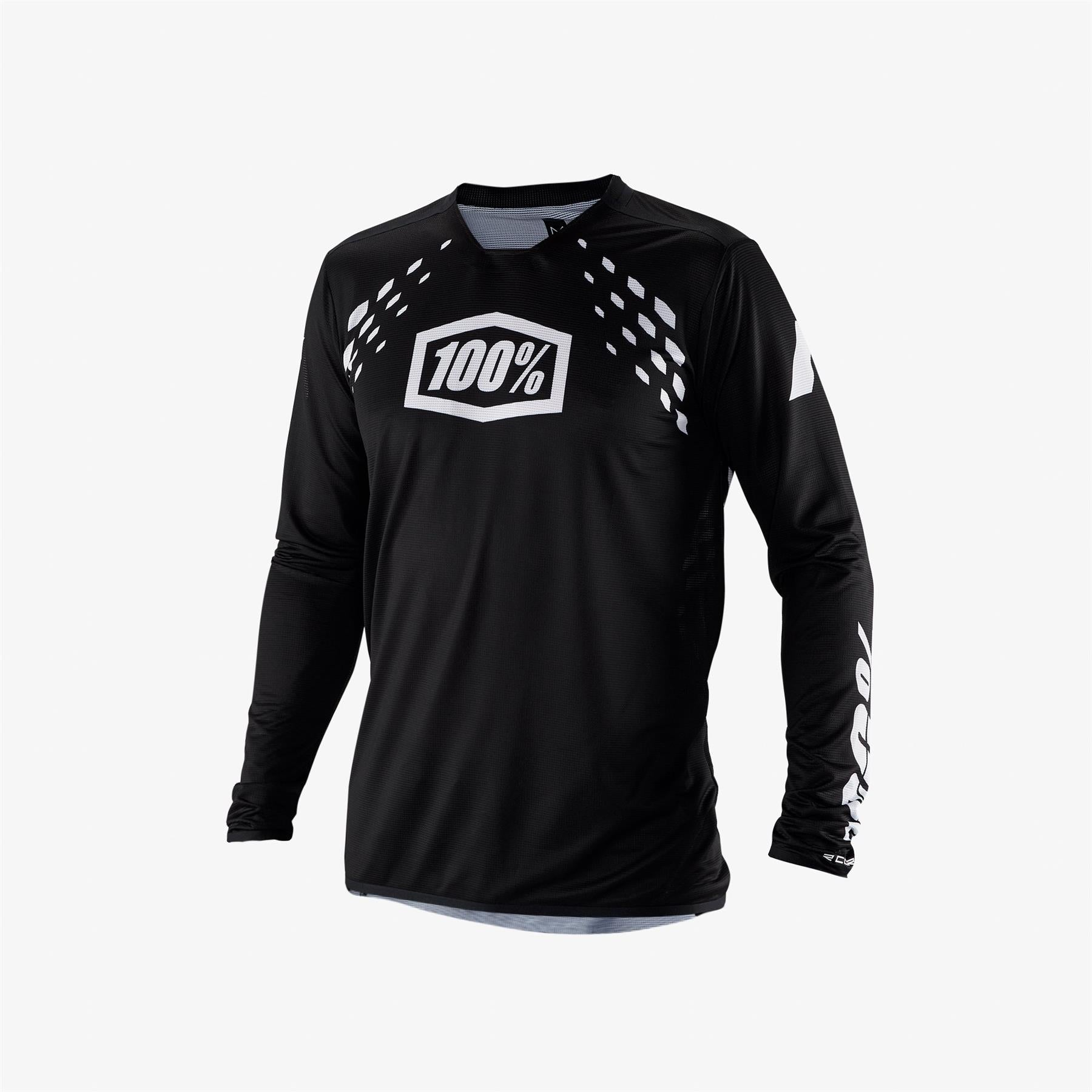 100% R-Core X Race Jersey - Black/White