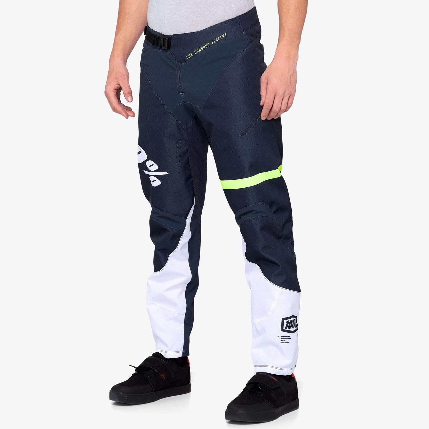 100% R-Core Race Youth Pants - Dark Blue/Yellow