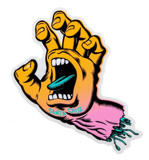 "Santa Cruz Screaming Party Hand Individual Sticker 6"" / Fade"