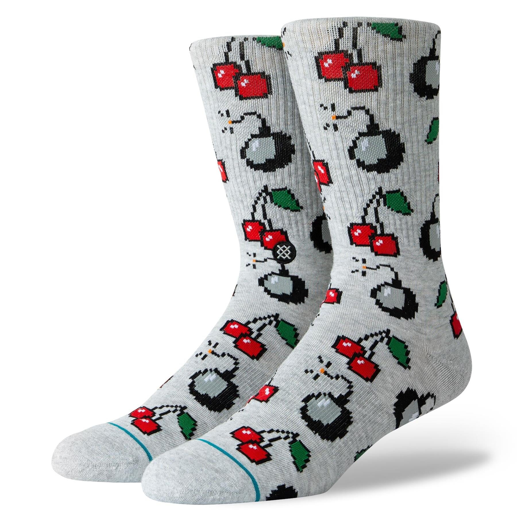 Stance Cherri Bomb Socks - Heather Grey/ Large