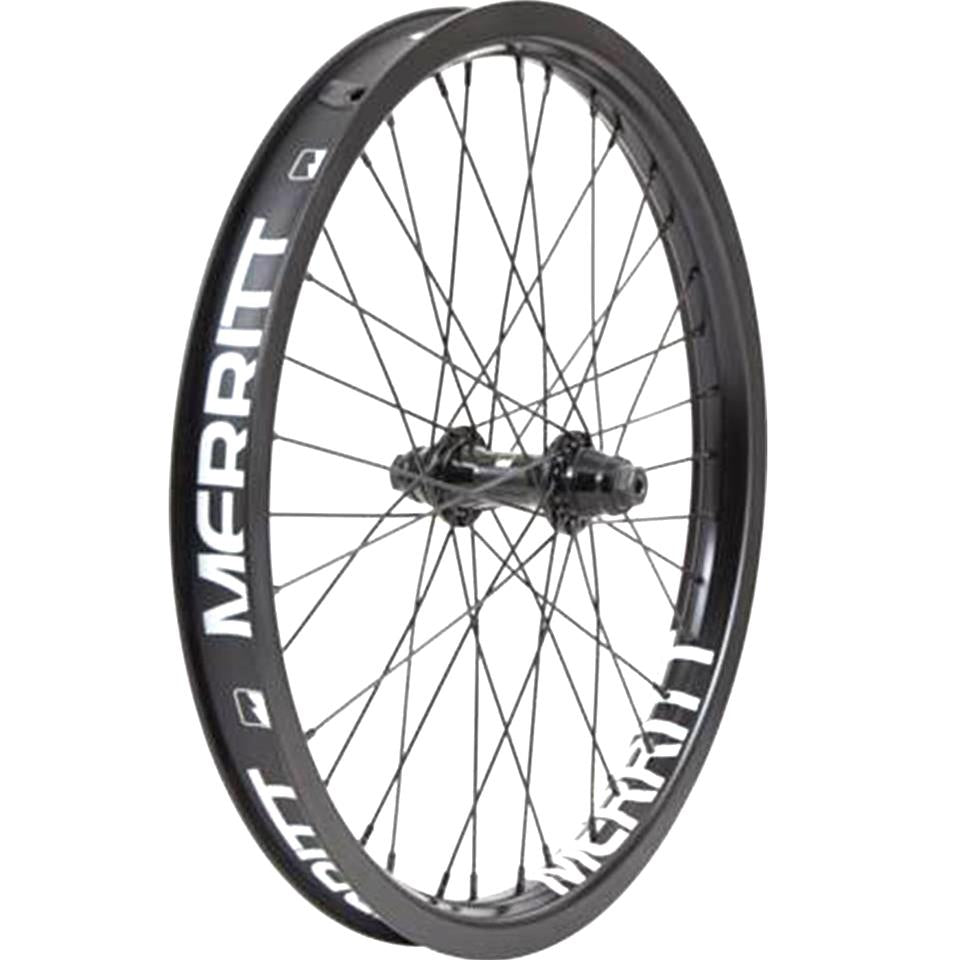 Merritt Non-Stop Complete Front Wheel With Battle Rim - Black