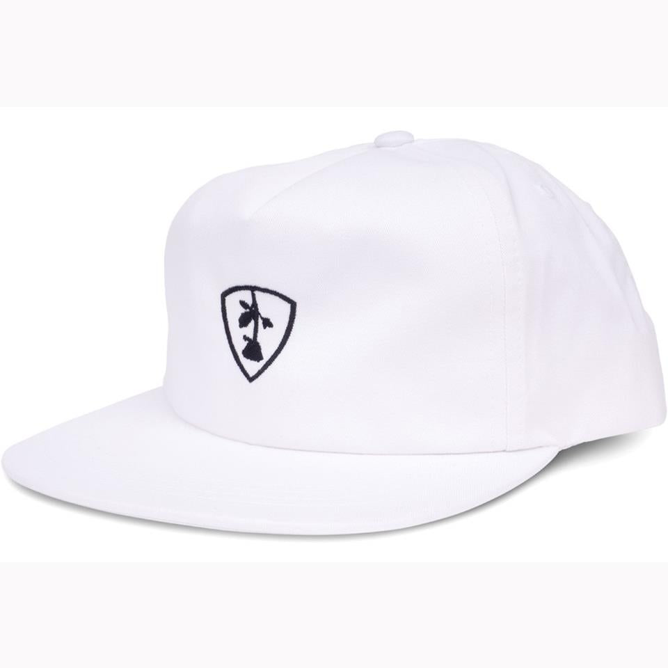 Subrosa Shield Snapback - White With Black Stitching