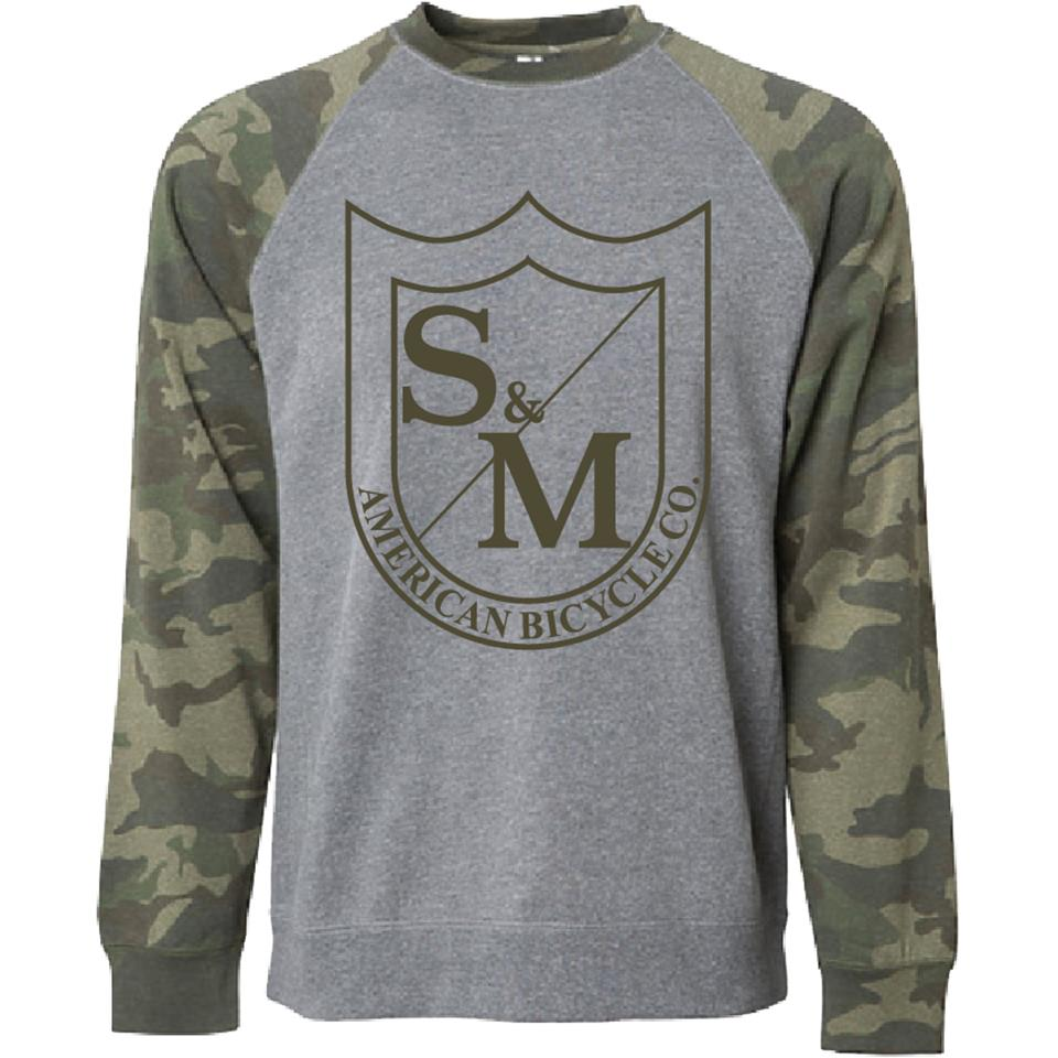 S&M Big Shield Crew Neck Sweatshirt - Camo