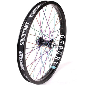 Profile Mini Front Female Wheel - Titanium Upgrade - Black/Rainbow