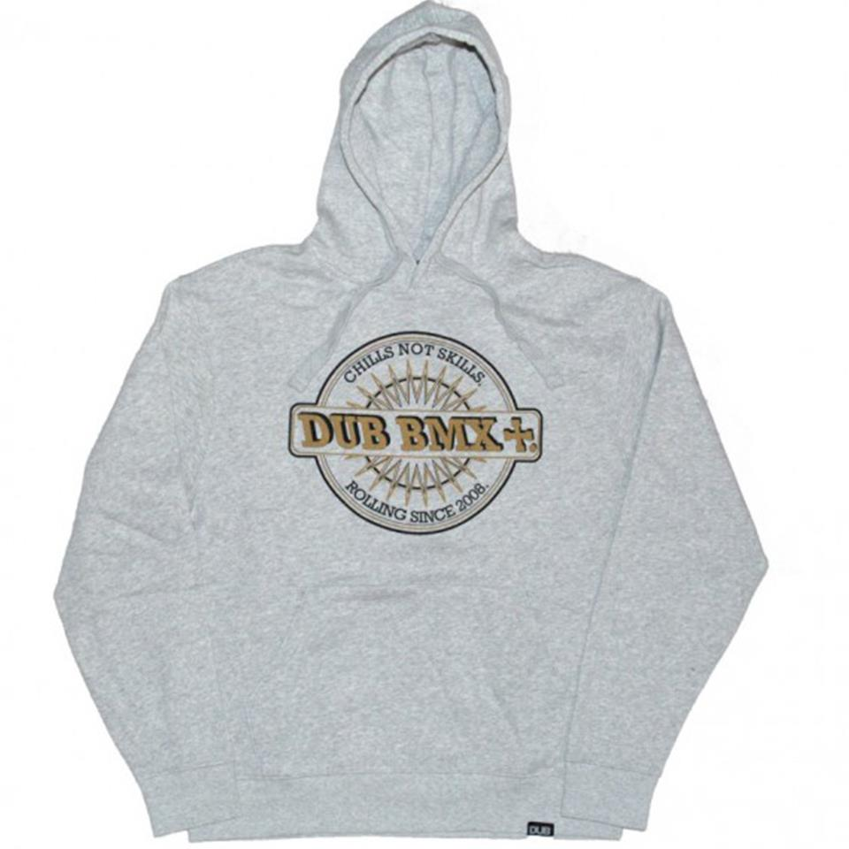 Dub Chills Hoodie - Grey With White & Gold