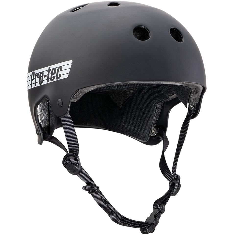 Pro-Tec Old School Certified Chase Hawk Helmet - Matte Black